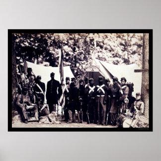 Militia Troops in Arlington, VA 1861 Poster