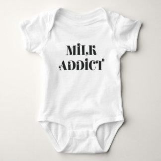 Milk addict quote funny baby bodysuit