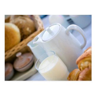 Milk and bakery postcard