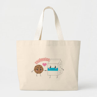 Milk and Cookie Large Tote Bag