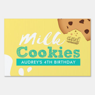 Milk and Cookies Birthday Party Sign