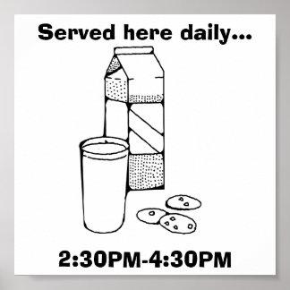 Milk and Cookies: Fun Poster