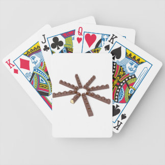 Milk chocolate bars bicycle playing cards