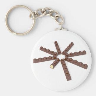 Milk chocolate bars keychain