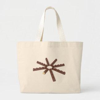 Milk chocolate bars large tote bag