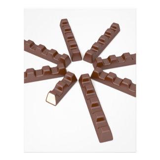 Milk chocolate bars letterhead
