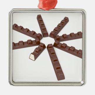 Milk chocolate bars metal ornament