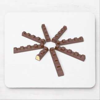 Milk chocolate bars mouse pad
