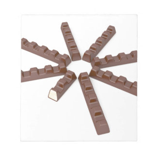 Milk chocolate bars notepad