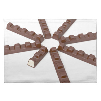 Milk chocolate bars placemat