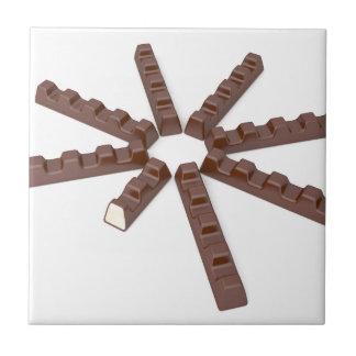 Milk chocolate bars tile