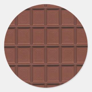 Milk chocolate classic round sticker
