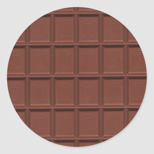 Milk chocolate classic round sticker