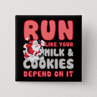Milk & Cookies 2 Inch Square Button