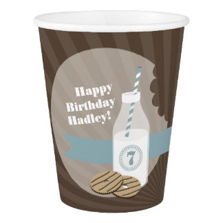 Milk + Cookies Birthday Party Cups