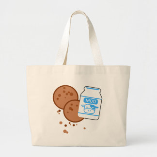 Milk & Cookies Large Tote Bag