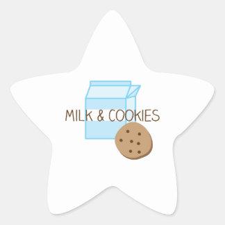 Milk & Cookies Star Sticker