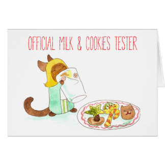 Milk & Cookies Tester Greeting Card