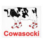 Milk Cow in Socks - Cowasocki Cow A Socky Flyer Design