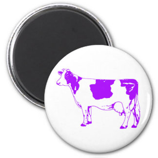 Milk Cow Silhouette Beef Cattle Moo Bull Steer 2 Inch Round Magnet