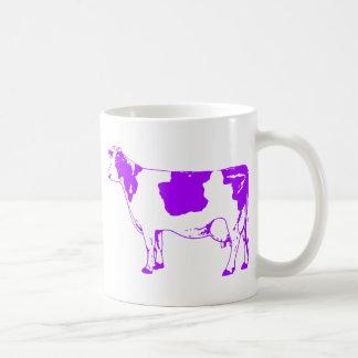 Milk Cow Silhouette Beef Cattle Moo Bull Steer Basic White Mug