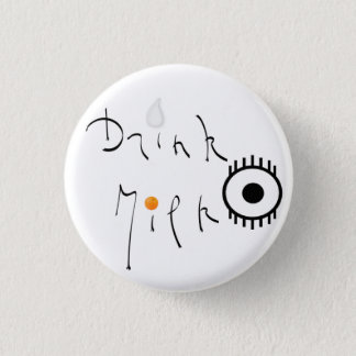Milk drink 1 inch round button