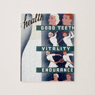 Milk - for health, good teeth, vitality, endurance puzzles
