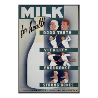 Milk For Health Poster