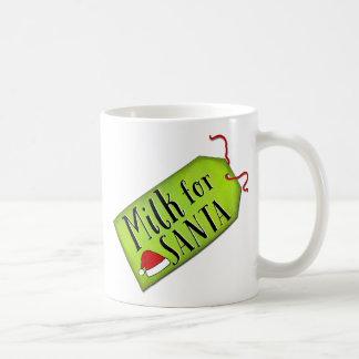 Milk For Santa Basic White Mug