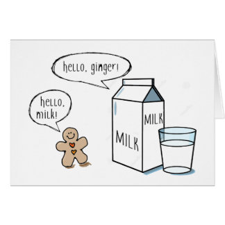 Milk & Ginger Greeting Card
