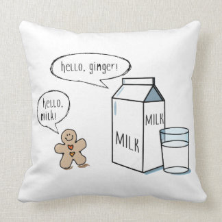 Milk & Ginger Quirky White Cushion