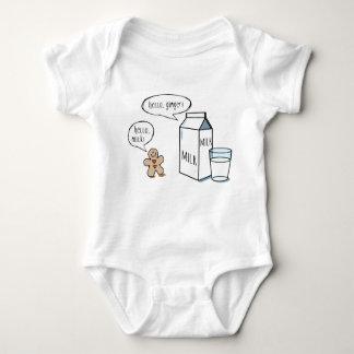 Milk & Ginger - White Baby Bodysuit