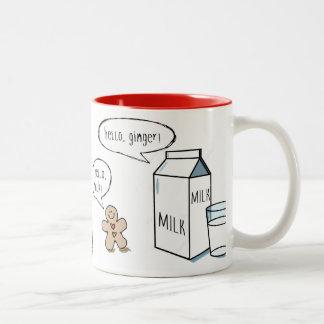 Milk & Ginger White Mug with Red Interior