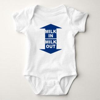 Milk In Milk Out baby bodyshirt Baby Bodysuit
