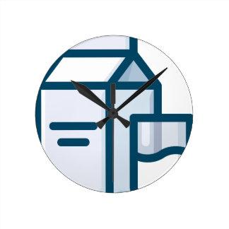 Milk Round Clock