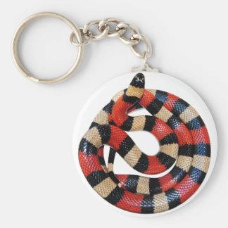Milk snake basic round button keychain