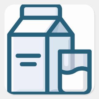 Milk Square Sticker