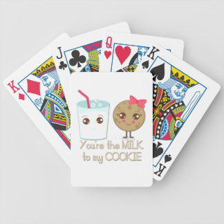 Milk to my Cookie Bicycle Playing Cards