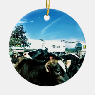 milk truck ceramic ornament