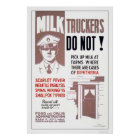 Milk Truckers Be Careful 1940 WPA Poster