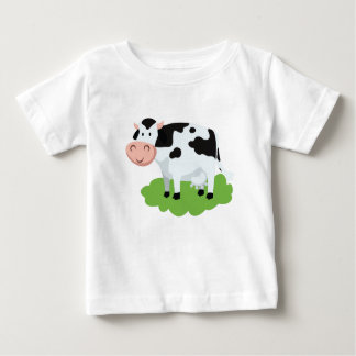milking cow in the garden baby T-Shirt