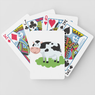 milking cow in the garden bicycle playing cards