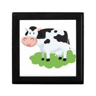 milking cow in the garden gift box