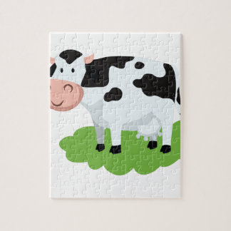 milking cow in the garden jigsaw puzzle