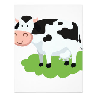 milking cow in the garden letterhead