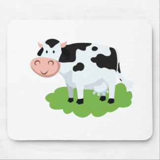 milking cow in the garden mouse pad