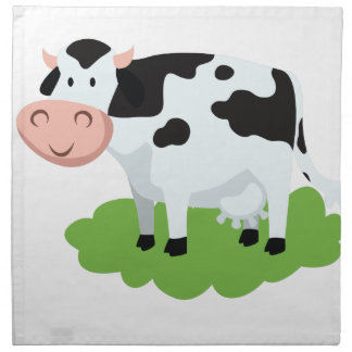 milking cow in the garden napkin