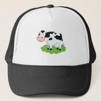 milking cow in the garden trucker hat
