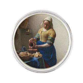 Milkmaid Johannes Vermeer Lapel Pin