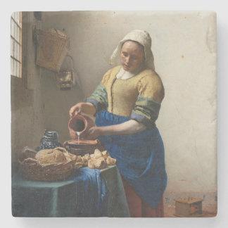 Milkmaid Johannes Vermeer Stone Coaster